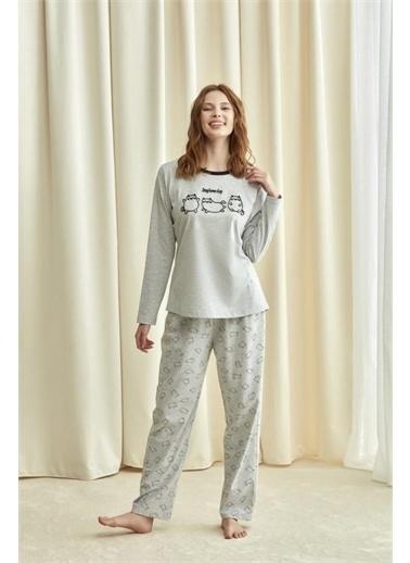 Catherines Pijama Takım Gri